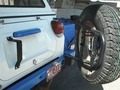 SPARE TIRE CARRIER, POWDER COATED