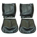 FRONT SEAT COVERS SET  UPHOLSTERY BLACK SMOOTH VINYL