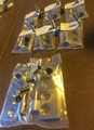 STAINLESS STEEL HINGE MOUNTS WITH MIRROR MOUNTING AND SCREWS