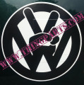 VW PEACE SIGN VW BLACK OR WHITE LARGE STICKER