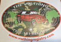 VW THING REGISTRY CAMO STICKER LARGE