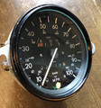 SPEEDOMETER KM/MPH BLACK BEZEL WITH FUEL GAUGE