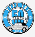 50th ANNIVERSARY STICKER BLUE