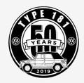 50th ANNIVERSARY STICKER BLACK