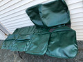 SEAT COVERS COMPLETE SET DARK GREEN SMOOTH VINYL