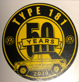 50th ANNIVERSARY STICKER YELLOW/BLACK 3 X 3""