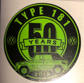 50th ANNIVERSARY STICKER GREEN/BLACK 3 X 3""