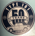 50th ANNIVERSARY STICKER DARK BLUE/GRAPE 3 X 3""