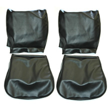 FRONT SEAT COVERS BLACK SMOOTH VINYL