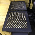 RUBBER MATS REAR SEAT BACKS  WITH HOLES