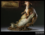 Deinosuchus vs. Parasaurolophus Diorama by Sideshow
