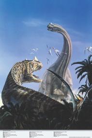 Ceratosaurus and Brachiosaurus Poster