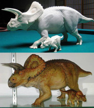 Torosaurus with Baby Resin Kit by Foulkes