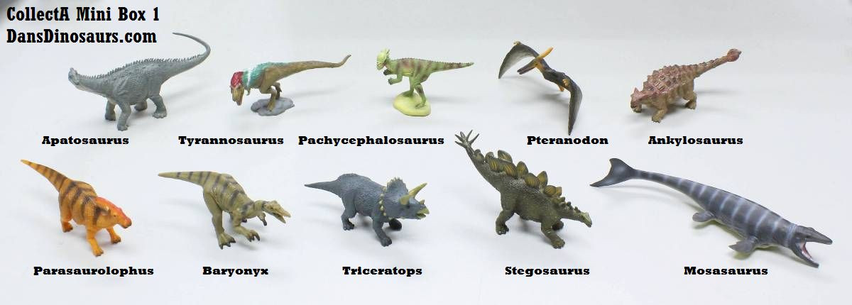 Dinosaurs Mdf Toy Box Childrens Storage Toys Games Books: Dinosaur Mini Box 1 By CollectA