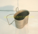 US MILITARY BUTTERFLY / NEW STYLE Stainless Steel Canteen Cup LIKE NEW