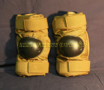 US GI MILITARY BIJAN'S or ALTA TAN Tactical Paintball Elbow Pads NICE CONDITION