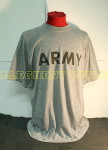 US MILITARY Grey Army PT Short Sleeve T-Shirt VERY GOOD CONDITION