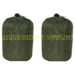 (2) TWO USGI MILITARY Wet Weather Laundry Bag OD VERY GOOD CONDITION