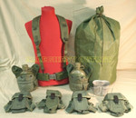 US GI MILITARY Lot Canteens & Pouches / Canteen Cup / Ammo Pouches / Scent Lock Bag / MEDIUM Web Belt VERY GOOD CONDITION
