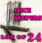 GENUINE U.S. MILITARY ISSUE ALICE CLIPS / BELT KEEPERS LOT OF (24) VERY GOOD CONDITION
