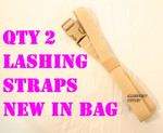 GENUINE U.S. MILITARY ISSUE  QTY 2 NEW USGI ARMY MOLLE II PACK LASHING STRAPS ALICE PACK NEW IN BAG / UNISSUED CONDITION