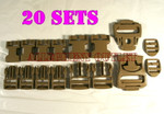 GENUINE U.S. MILITARY ISSUE  20 Kits MOLLE II Desert Replacement Repair Buckle Sets NEW IN BAG / UNISSUED