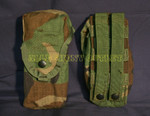 US MILITARY MOLLE II Woodland Camo Double Magazine Pouches QTY 2 EXCELLENT CONDITION