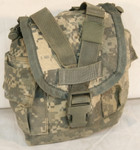 U.S. ARMY MILITARY MOLLE II ACU Canteen Cover / Utility Pouch EXCELLENT CONDITION