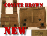 GENUINE U.S. MILITARY ISSUE (2) NEW USGI MOLLE II ALICE CLIP ADAPTERS COLOR: COYOTE BROWN NEW / UNISSUED