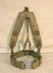US MILITARY LBE Y SUSPENDERS w/ LC2 LARGE PISTOL WEB BELT SIZE: LARGE VERY GOOD CONDITION