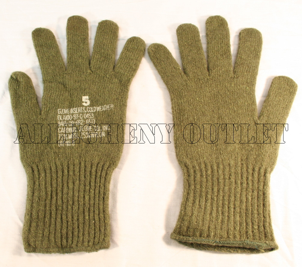 GENUINE U.S. MILITARY ISSUE OLIVE DRAB GREEN WOOL M1949 GLOVE ... 423cc5c40e