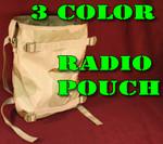 (10) TEN USGI Military Molle II LCE RADIO POUCH 3-Color Desert Camo NEW / UNISSUED