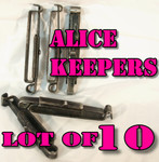 GENUINE U.S. MILITARY ISSUE ALICE CLIPS / BELT KEEPERS LOT OF (10) VERY GOOD CONDITION