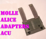 GENUINE U.S. MILITARY ISSUE  (5) NEW USGI MILITARY ACU Foliage MOLLE TO ALICE Adapters NEW IN BAG / UNISSUED CONDITION