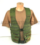 MOLLE II FLC VEST FIGHTING LOAD CARRIER WOODLAND SDS EXCELLENT CONDITION
