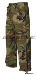 GENUINE U.S. MILITARY ISSUE WOODLAND CAMO ECW GORETEX PANTS EXTRA SMALL / REGULAR NEW IN BAG / UNISSUED CONDITION