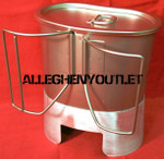 Stainless Steel BUTTERFLY CANTEEN CUP & MRE STOVE / STAND & LID SETUP Imported NIB