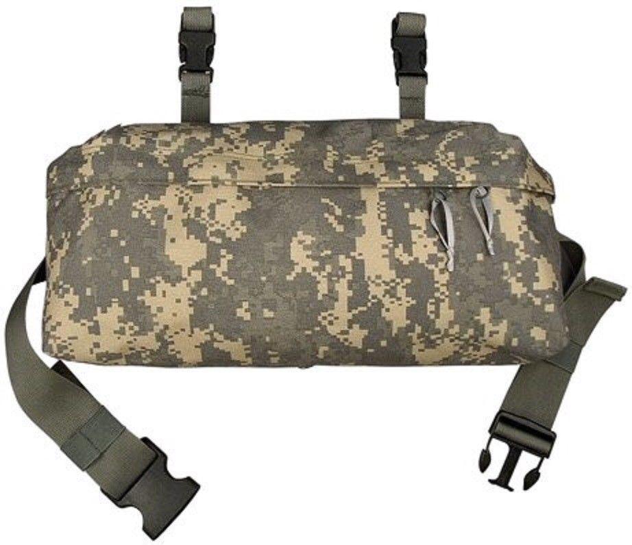 USGI MOLLE Waist Pack Pouch Butt Fanny Hip Bag w// Black Buckle Woodland VGC
