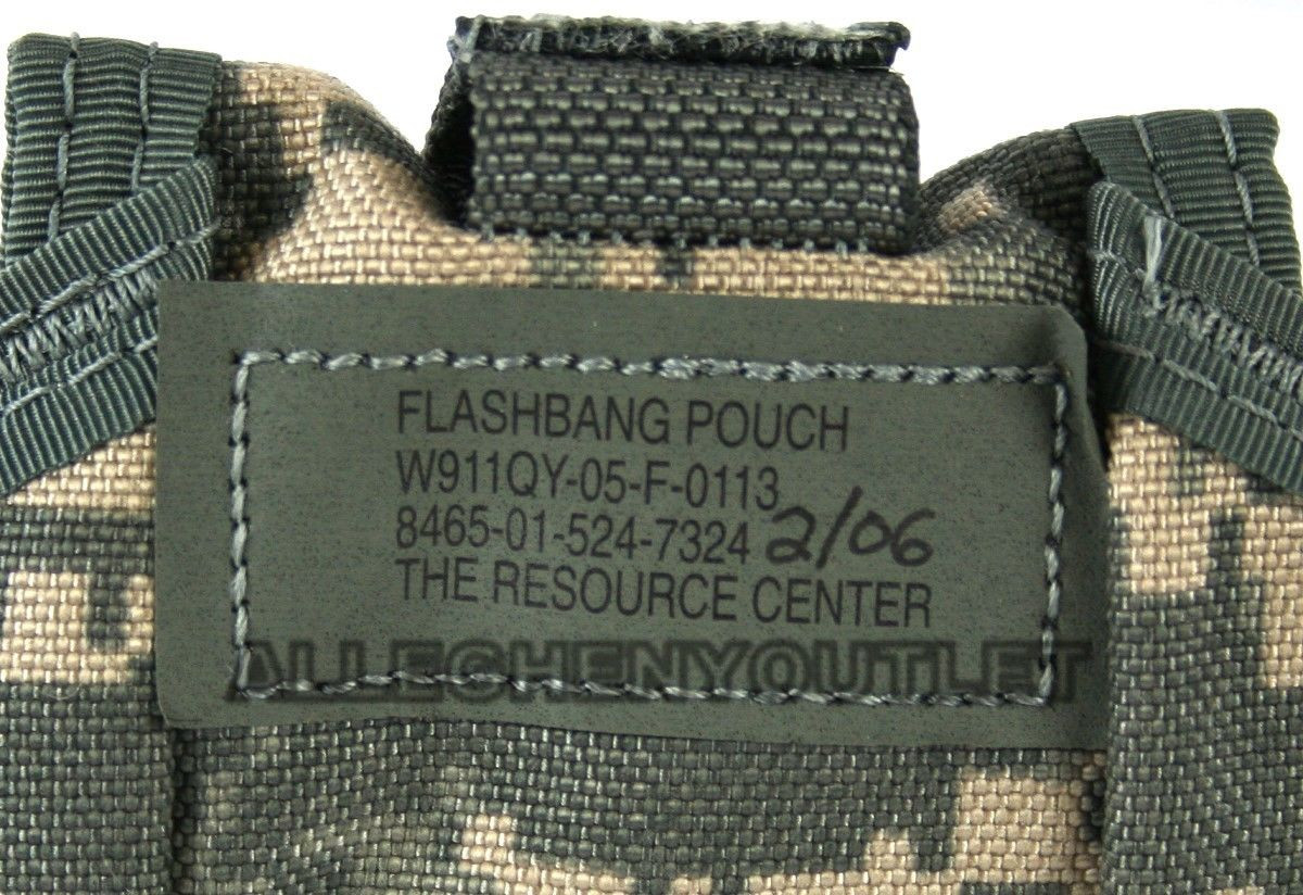 US Military Army MOLLE ACU FLASHBANG GRENADE POUCH Flash Bang Ammo Pouch LN