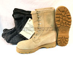 US GI Military ICW Cold Weather GORETEX COMBAT BOOTS Tan w/ Booties NIB