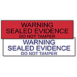 "Labels, ""Sealed Evidence"" Labels, Red, Pack of 250"