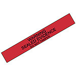 """Seals, """"Warning Sealed Evidence"""" Seals, Long, Red, Pack of 100"""