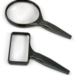 Acrylic-Lens Hand-Held Magnifier, Round, 4""