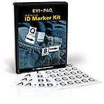Photo Adhesive ID Marker Kit, Combo, Letters/Numbers