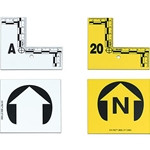 EVI-PAQ Flat ID Markers, 6 Arrows (3 North), Yellow