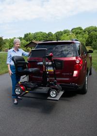 Wheelchair & Scooter Lift | Car Lift Installation | Medical Equipment & Supplies | Pride Outlander TM | Home Health Depot | (310) 891-1954 | Los Angeles, South Bay, Long Beach, Lomita, Carson, Torrance, San Pedro, Palos Verdes, Santa Monica
