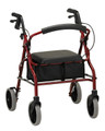 Nova Zoom Rolling Walker / Rollator with Seat & Brakes