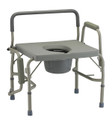 Heavy Duty Drop-Arm Commode (500 lb. Weight Capacity)