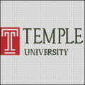 Temple University Cross Stitch Pattern