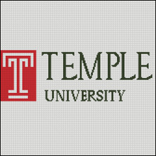 Temple University Cross Stitch Pattern